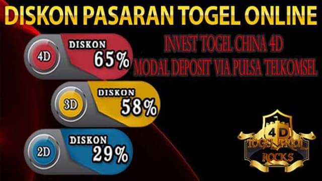 Invest Togel China 4D Modal Deposit Via Pulsa Telkomsel